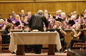 choir and woodwind group Maundy Thursday 2010